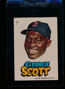 Scan of 1967 Topps Red Sox Stickers 21 George Scott VG