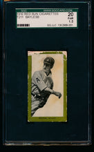 Load image into Gallery viewer, Scan of 1910 T211 Red Sun  Dick Bayless SGC 20/1.5 Fair