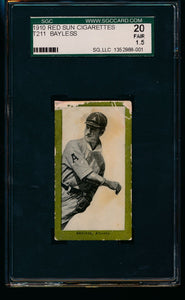 Scan of 1910 T211 Red Sun  Dick Bayless SGC 20/1.5 Fair