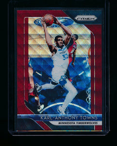 Scan of 2018-19 Panini Prizm 107 Karl-Anthony Towns NM-MT+
