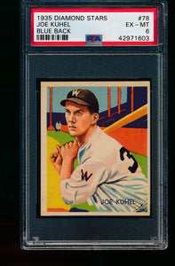 Scan of 1935 Diamond Stars 78 Joe Kuhel PSA 6 EX-MT