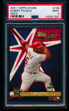 Load image into Gallery viewer, Scan of 2001 Topps Stars 198 Albert Pujols PSA 9 MINT
