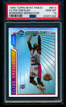 Load image into Gallery viewer, Scan of 1996 Topps Mystery Finest M13 Clyde Drexler PSA 10 GEM MINT