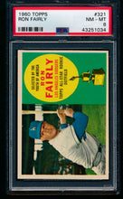 Load image into Gallery viewer, Scan of 1960 Topps 321 Ron Fairly PSA 8 NM-MT