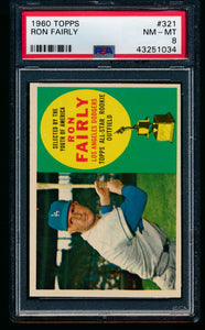 Scan of 1960 Topps 321 Ron Fairly PSA 8 NM-MT