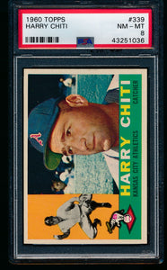 Scan of 1960 Topps 339 Harry Chiti PSA 8 NM-MT