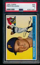 Load image into Gallery viewer, Scan of 1955 Topps 95 Preston Ward PSA 7 NM
