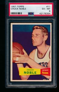 Scan of 1957 Topps 11 Chuck Noble PSA 6 EX-MT