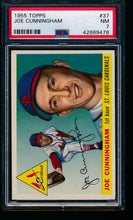 Load image into Gallery viewer, Scan of 1955 Topps 37 Joe Cunningham PSA 7 NM