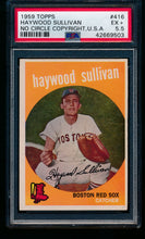 Load image into Gallery viewer, Scan of 1959 Topps 416 Haywood Sullivan PSA 5.5 EX+