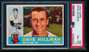 Scan of 1960 Topps 68 Dave Hillman PSA 8 NM-MT