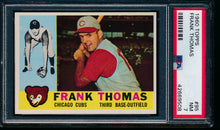 Load image into Gallery viewer, Scan of 1960 Topps 95 Frank Thomas PSA 7 NM