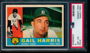 Scan of 1960 Topps 152 Gail Harris PSA 6 EX-MT