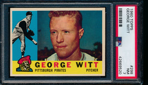 Scan of 1960 Topps 298 George Witt PSA 7 NM
