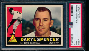 Scan of 1960 Topps 368 Daryl Spencer PSA 7 NM