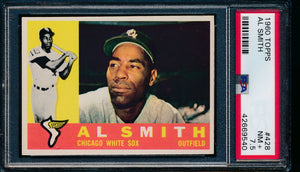 Scan of 1960 Topps 428 Al Smith PSA 7.5 NM+