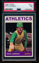 Load image into Gallery viewer, Scan of 1964 Topps 212 Pete Lovrich PSA 7 NM