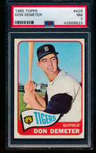 Load image into Gallery viewer, Scan of 1965 Topps 429 Don Demeter PSA 7 NM