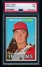 Load image into Gallery viewer, Scan of 1967 Topps 24 Bob Allen PSA 7 NM