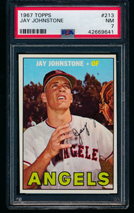 Scan of 1967 Topps 213 Jay Johnstone PSA 7 NM