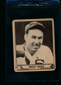 Scan of 1940 Play Ball 184 Mule Haas G/VG