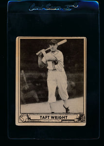 Scan of 1940 Play Ball 186 Taft Wright RC G/VG