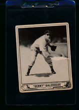 Load image into Gallery viewer, Scan of 1940 Play Ball 198 Denny Galehouse RC G