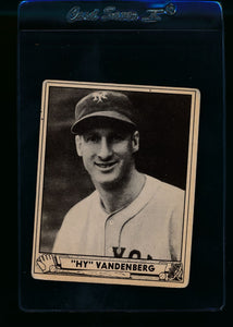 Scan of 1940 Play Ball 209 Hy Vandenberg RC VG
