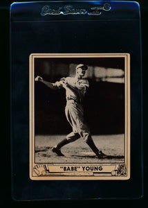 Scan of 1940 Play Ball 212 Babe Young RC VG