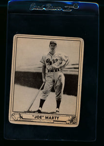 Scan of 1940 Play Ball 216 Joe Marty RC G