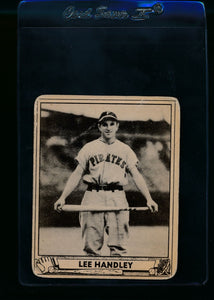 Scan of 1940 Play Ball 221 Lee Handley RC G