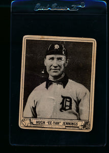 Scan of 1940 Play Ball 223 Hughie Jennings P