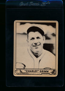 Scan of 1940 Play Ball 228 Charlie Grimm VG