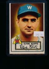 Load image into Gallery viewer, Scan of 1952 Topps 132 Clyde Kluttz VG-EX