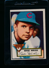 Load image into Gallery viewer, Scan of 1952 Topps 172 Eddie Miksis EX