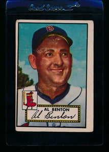 Scan of 1952 Topps 374 Al Benton F