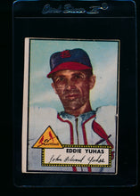Load image into Gallery viewer, Scan of 1952 Topps 386 Ed Yuhas P (trimmed)
