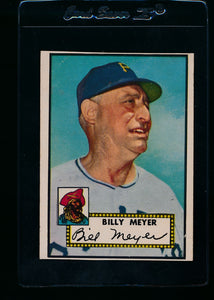 Scan of 1952 Topps 387 Billy Meyer vg (trimmed)