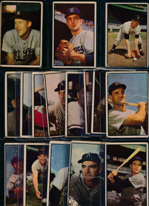 Scan of 1953 Bowman Color   Set Builder Lot (mixed grade)