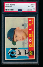 Load image into Gallery viewer, Scan of 1960 Topps 503 Don Lee PSA 6 EX-MT