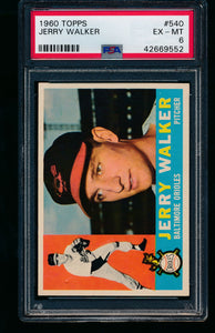 Scan of 1960 Topps 540 Jerry Walker PSA 6 EX-MT