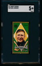 Load image into Gallery viewer, Scan of 1911 t205 Gold Border  Hugh Jennings SGC 5 EX