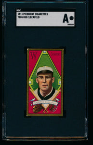 Scan of 1911 t205 Gold Border  Kid Elberfeld SGC Authentic
