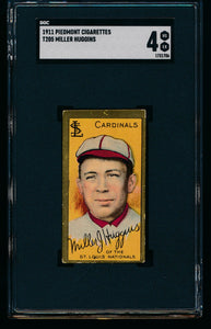 Scan of 1911 t205 Gold Border  Miller Huggins SGC 4 VG-EX