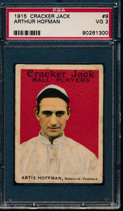 Scan of 1915 Cracker Jack 9 Artie Hofman PSA 3 VG