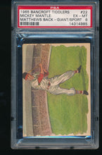 Load image into Gallery viewer, Scan of 1965 Bancroft Tiddlers  MICKEY MANTLE PSA 6 EX-MT