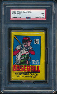 Scan of 1979 Topps  Baseball Wax Pack PSA 7 NM