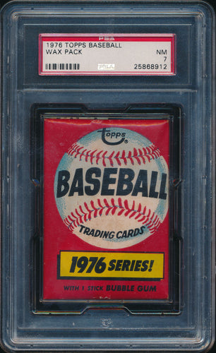 Scan of 1976 Topps  Baseball Wax Pack PSA 7 NM