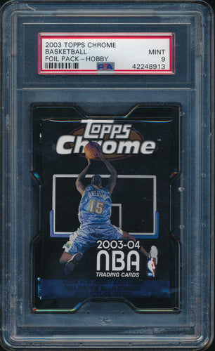 Scan of 2003-04 Topps  Basketball Foil Pack - Hobby PSA 9 MINT