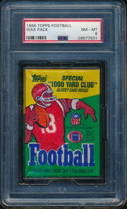 Scan of 1986 Topps  Football Wax Pack PSA 8 NM-MT